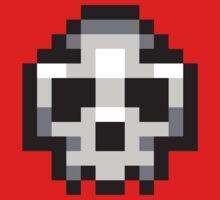 Pixel Skull One Piece - Short Sleeve