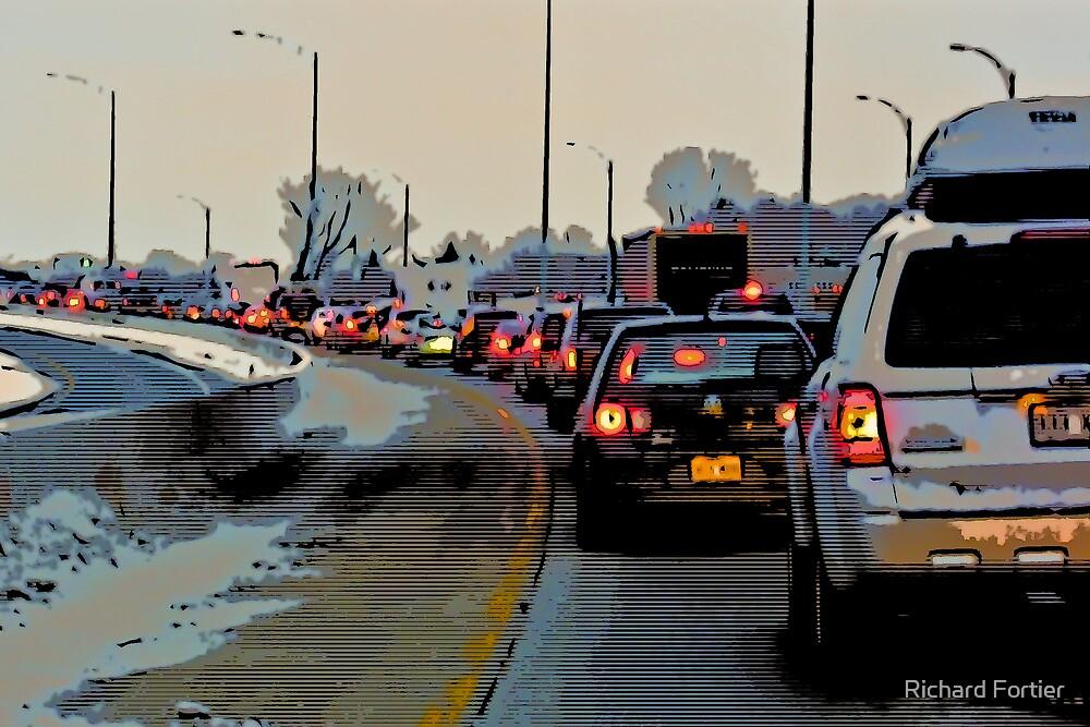 Stuck in traffic by Richard Fortier