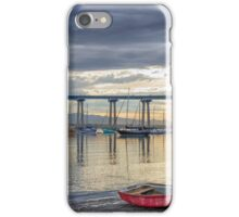 RED BOAT, GRAY SKIES iPhone Case/Skin