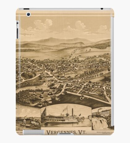 Panoramic Maps Vergennes Vt iPad Case/Skin