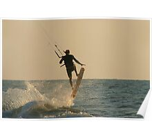 Kite Surfer Jumping Mandrem Poster