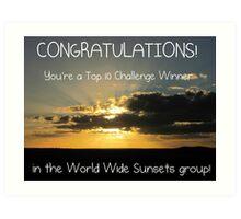 World Wide Sunsets Top 10 Banner Art Print
