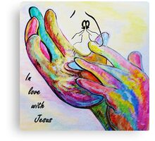 In Love with Jesus Canvas Print