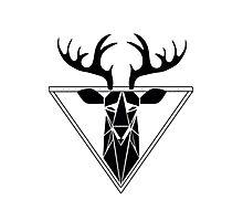 Geo Deer Photographic Print