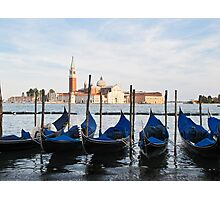 blue gondolas Photographic Print