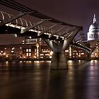 Millenium Bridge and St.Pauls by Stuart  Gennery