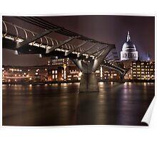 Millenium Bridge and St.Pauls Poster