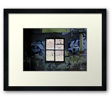 Graffiti Window Framed Print