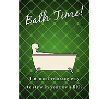 Bath Time! Photographic Print