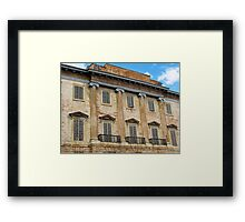 old building in Gubbio Framed Print