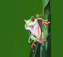 Tree Frog  by Deborah Vicino