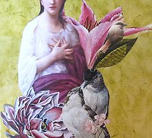 Penelope With Birds by Kanchan Mahon