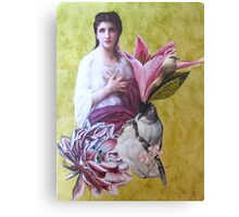 Penelope With Birds Canvas Print