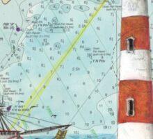Morris Island Lighthouse SC Chart Map Cathy Peek Sticker