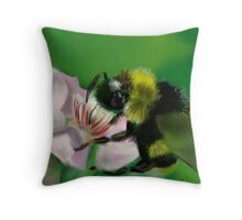 BUM BUM BUMBLE BEE Throw Pillow