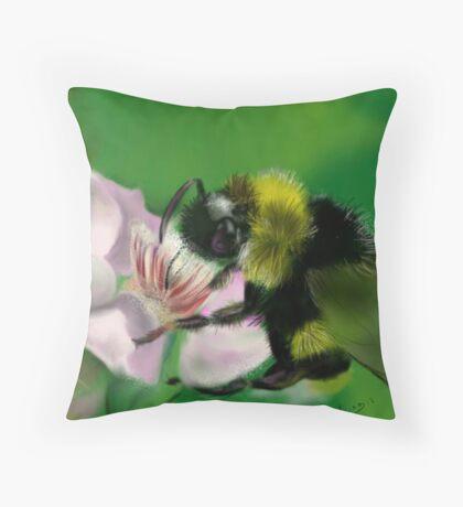 BUM BUM BUMBLE BEE Throw Pillow