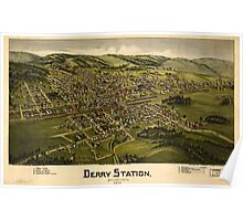Panoramic Maps Derry Station Pennsylvania 1900 Poster