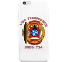 USS Tennessee (SSBN-734) Crest iPhone Case/Skin