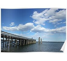 Pier and sky Poster