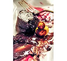 Maurice discovers Molten Cake. Photographic Print