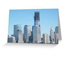 The New World Trade Center Towers Over the New York Skyline Greeting Card