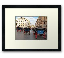 carriages in Rome Framed Print