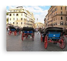 carriages in Rome Canvas Print