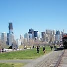 Jersey City, New Jersey, Liberty State Park, New Jersey Central Railroad Terminal, World Trade Center, New York Skyline in Backround by lenspiro