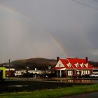 the rainbow and the red house by LoreLeft27