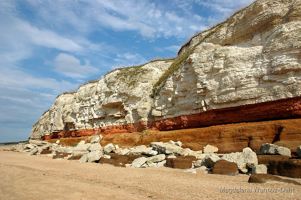 Cliffs of Hunstanton, North Norfolk by Magdalena Warmuz-Dent