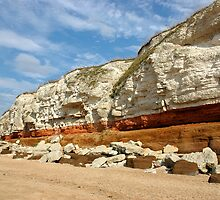 Cliffs of Hunstanton, North Norfolk by Magdalena Warmuz-Dent