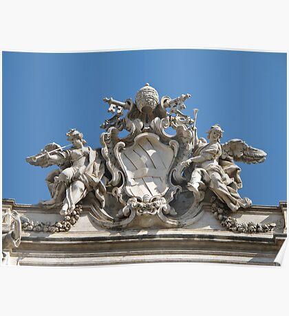 Trevi fountain sculpture Poster