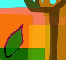 Tree With Leaf by Phil  Hogan