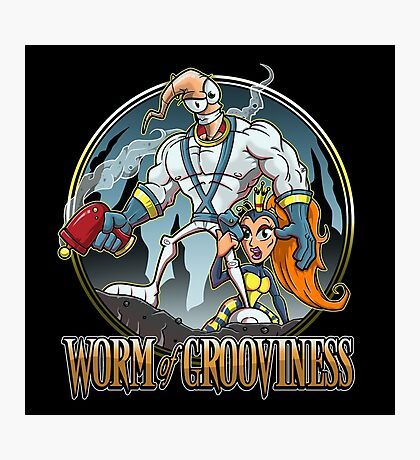 Worm of Grooviness Photographic Print