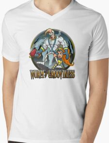 Worm of Grooviness Mens V-Neck T-Shirt