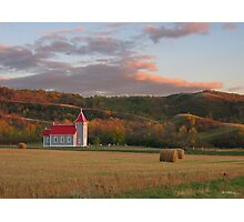 Valley Church at Sunset Photographic Print