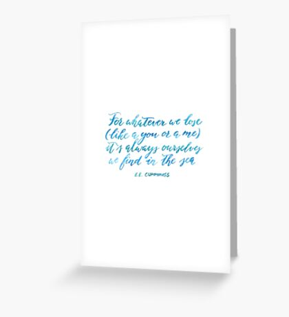 Find You in The Sea Greeting Card