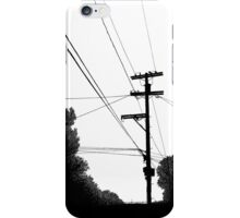 Bluff Powerlines iPhone Case/Skin