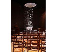 Rush chairs, MIT chapel Photographic Print