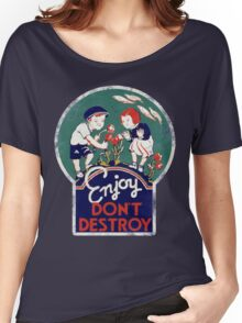 Enjoy don't destroy our planet for earth day  Women's Relaxed Fit T-Shirt