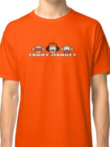 cartoon style three funky monkey Classic T-Shirt