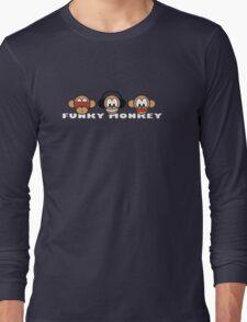 cartoon style three funky monkey Long Sleeve T-Shirt