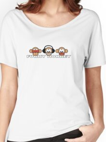 cartoon style three funky monkey Women's Relaxed Fit T-Shirt