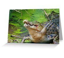 Crocodilian eating Greeting Card