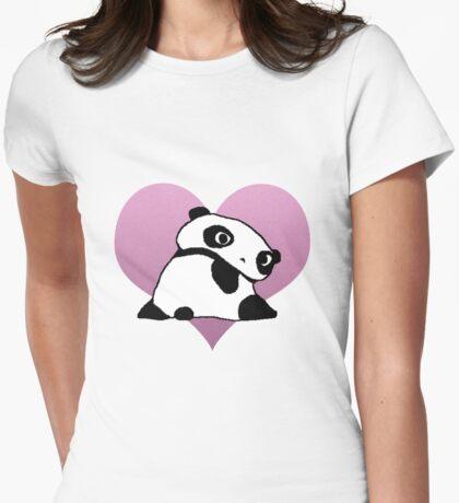 Tare Panda Womens Fitted T-Shirt