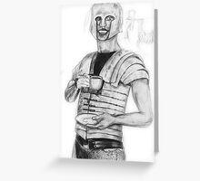 The Roman Centurion Has Coffee Greeting Card