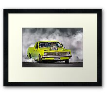 OUTLAW Tread Cemetery Burnout Framed Print