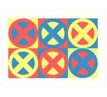 X-Men Pastel Triad Art Print