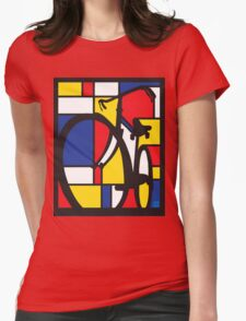 Mondrian Bicycle Womens Fitted T-Shirt