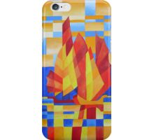 Sailing on the Seven Seas so Blue Cubist Abstract iPhone Case/Skin